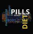 lose weight rapidly with diet pills therapy text vector image vector image