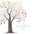 lovely autunm tree 1 vector image