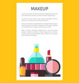 makeup products poster text vector image