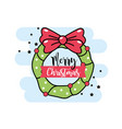 merry chirstmas traditional celebration event vector image vector image