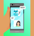 mobile phone communication poster vector image vector image