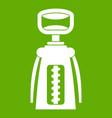modern corkscrew icon green vector image vector image