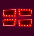 neon frame arrow set collection template design vector image