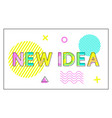 new idea poster geometric figures in linear style vector image