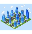 Office city center industry planning vector image vector image