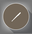 pen sign white icon on brown vector image vector image