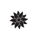petunia black concept icon petunia flat vector image vector image