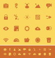 Photography sign color icons on orange background vector image