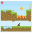 Pixel art style game level assets objects vector image vector image
