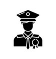 police officer black glyph icon