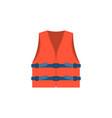 red life vest jacket for children vec vector image vector image