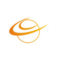 round orbit planet logo vector image vector image
