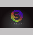 s letter logo design with colorful rainbow vector image