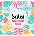 sale up to 50 off shop now flowers leaves backgro vector image vector image