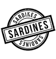 Sardines rubber stamp vector image vector image