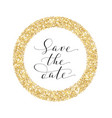 save date card hand written custom vector image vector image