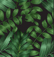 seamless foliage pattern4 vector image