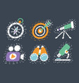 set hand drawn icons vector image vector image