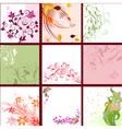 set of floral patterns background vector image vector image