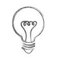sketch draw bulb cartoon vector image