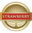 strawberry gold icon vector image vector image