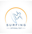 surfing logo and text for designs vector image