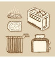 Toaster Vintage style hand drawn pen and ink vector image vector image