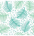 tropical blue palm or ferm leaves seamless vector image vector image