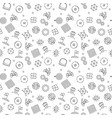 vr technology seamless pattern in outline vector image vector image