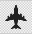 airplane sign icon airport plane business vector image vector image