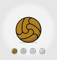 ball icon soccer isolated on white vector image