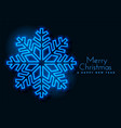 blue neon snowflakes background design vector image vector image