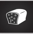 bread on black background vector image
