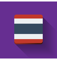 Button with flag of Thailand vector image