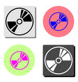 cd or dvd flat icon vector image