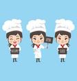 chef woman vector image vector image