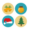 christmas decoration icons vector image vector image