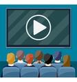 Cinema business video presentation vector image