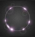 circle of light purple color vector image