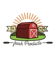 Color vintage farm emblem vector image vector image