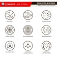 Concept Line Icons Physics vector image