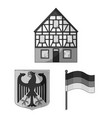 country germany monochrome icons in set collection vector image