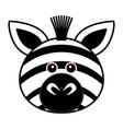 cute zebra cute animal faces vector image vector image