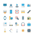 Electronics Colored Icons 1 vector image vector image