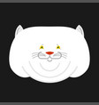 fat white cat isolated big thick pet home vector image vector image