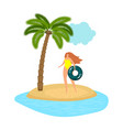 female beach vacation vector image