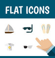 flat icon summer set of scuba diving spectacles vector image vector image