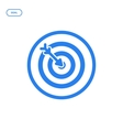 flat line target icon vector image vector image