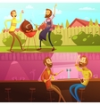Friends Having Rest Banners Set vector image vector image