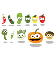 Funny Vegetables part 2 vector image vector image